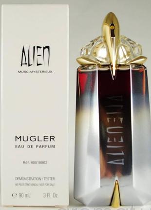 Mugler alien musc mysterieux парфюмированная вода тестер 90мл