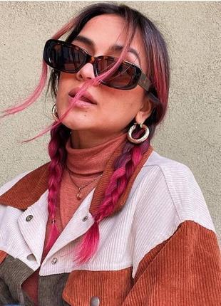 Тренд солнцезащитные очки черепаховые ретро винтаж леопардовые сонцезахисні окуляри