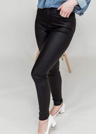 Кожаные брюки штаны лосины