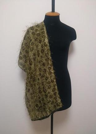 Палантин шарф платок травка бахрома