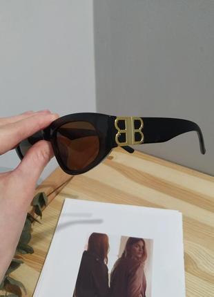 Крутые солнцезащитные очки узкие черные коричневые тренд геометрия новые окуляри сонцезахисні9 фото