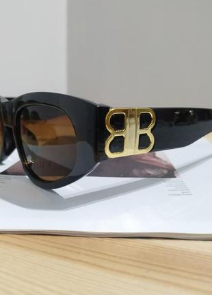 Крутые солнцезащитные очки узкие черные коричневые тренд геометрия новые окуляри сонцезахисні6 фото