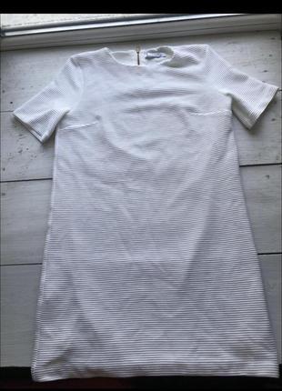Белое классное платье