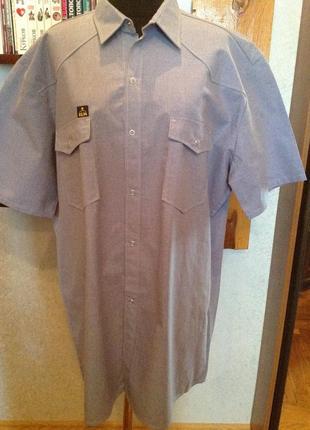 Качественная рубашка - батник на кнопках бренда klm, р. 58-60