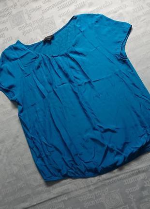 Красивая блуза comma/свободная футболка из вискозы, спинка трикотаж