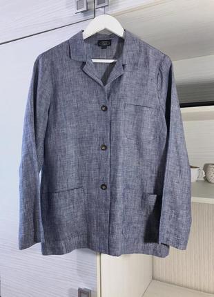 Льняная рубашка-жакет в стиле daily sleeper