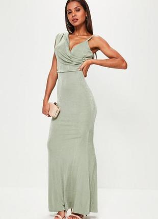 Летняя распродажа 🔥🔥🔥 зеленое пастельное вечернее платье