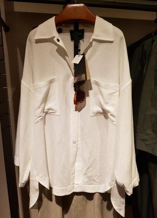 Верхняя рубашка с накладными карманами massimo dutti! оригинал, португалия!