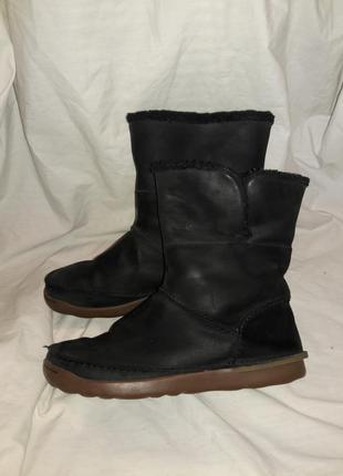 Сапожки кожаные clarks 37-38размер