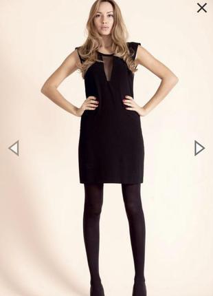 Чёрное короткое платье с вырезом, вечернее короткое платье,