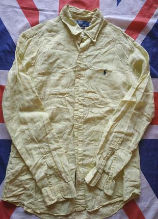 Ralph lauren polo лён рубашка