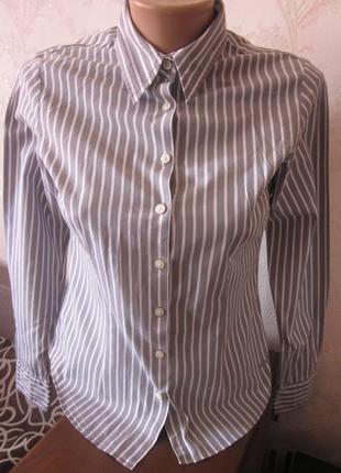 Легкая рубашка в полоску tommy hilfiger размер s