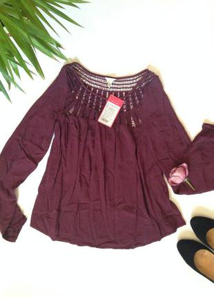 Блуза цвет марсала хс новая с бирками