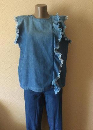 Стильная джинсовая премиум блуза от clozed.