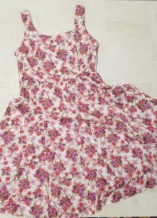 Шикарное платье цветы большой размер