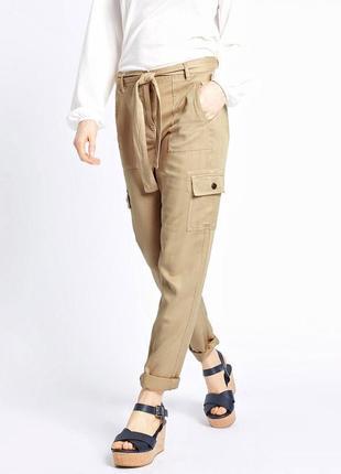 Стильные летние брюки карго marks&spencer.