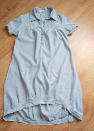 Платье рубашка оригинального кроя.