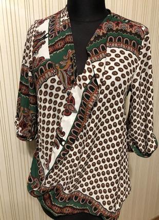 Блуза на запах лёгкая летняя
