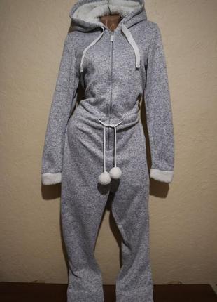 Домашний теплый костюм-человечек от esmara размер m l