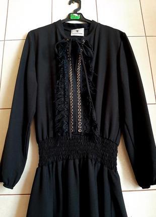 Стильное черное платье в этническом стиле от paparazzi fashion