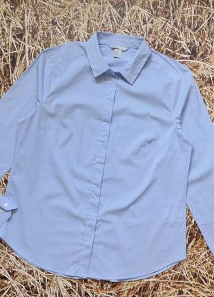 Новая хлопковая рубашка h&m. размер 38