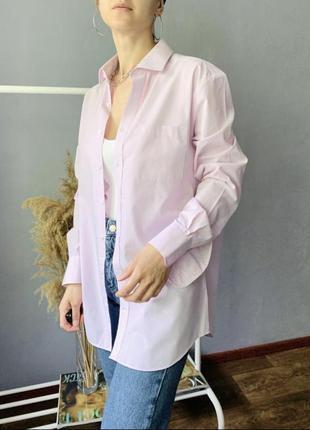 Красивая оверсайз рубашка/блуза розовая