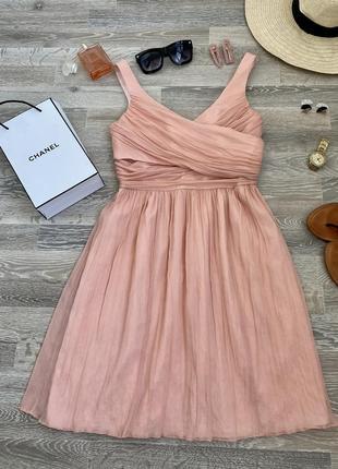 Вечернее выпускное нарядное платье 100% шёлк