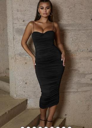 Чёрное платье oh polly / как zara, h&m