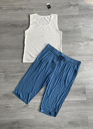 Пижама, комплект для дома и сна  майка + капри esmara