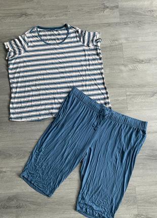 Пижама футболка + капри для дома и сна большой размер esmara