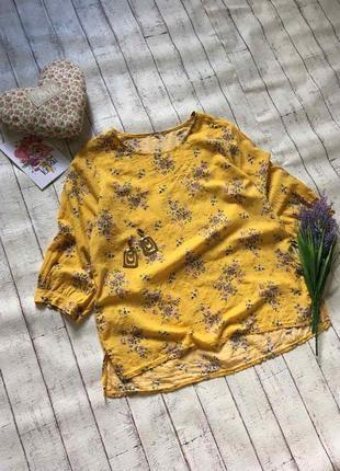 Легкая цветочная блуза
