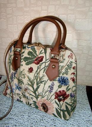 Красивая. стильная сумка кросс-боди из гобелена. signare