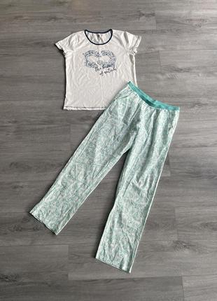 Пижама футболка + штаны комплект для дома и сна esmara