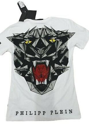 Белая футболка тигр