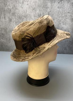 Шляпа фетровая стильная, качественная