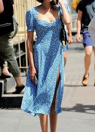 Платье с разрезом в стиле zara