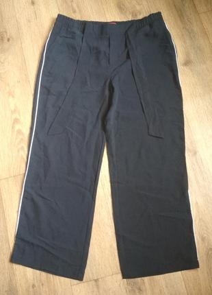 Батал! свободные вискозные брюки street one, р.44/30, замеры на фото