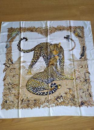 Hermes jungle love автор r.dallet винтажный шарф платок в коллекцию