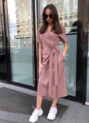 Платье на запах базовое