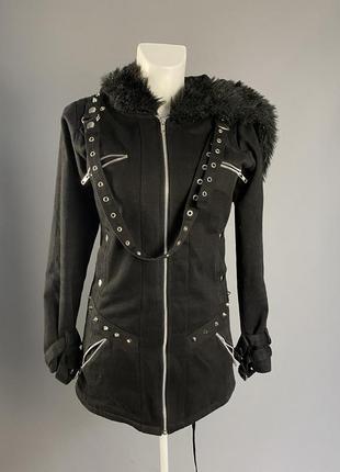 Куртка эксклюзивная, heartless, готическая, теплая