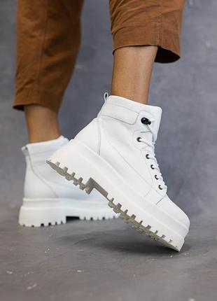 Ботинки натуральная кожа/ на байке/ деми