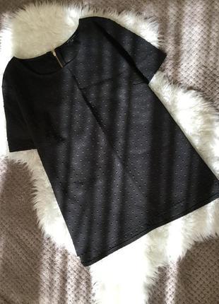 Блузка топ из фактурной ткани new look размер 10/12