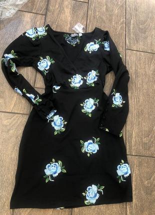 Новое летнее платье с бирками с рукавом v образный вырез брендовое asos