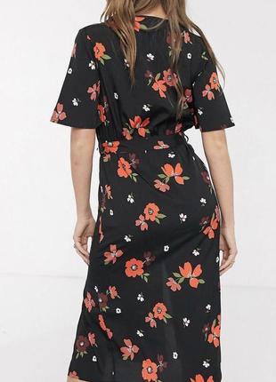 Новое легкое брендовое  хлопок платье с бирками с поясом англия летящее2 фото