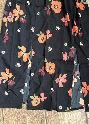 Новое легкое брендовое  хлопок платье с бирками с поясом англия летящее5 фото