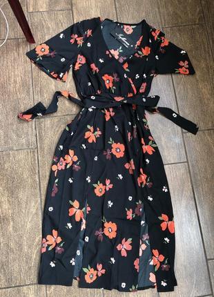 Новое легкое брендовое  хлопок платье с бирками с поясом англия летящее4 фото