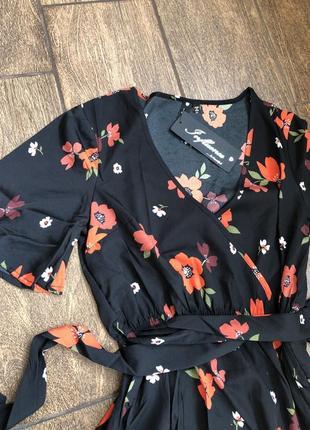 Новое легкое брендовое  хлопок платье с бирками с поясом англия летящее6 фото