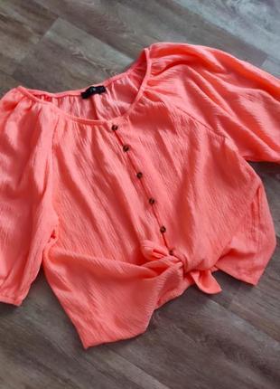 Потрясающий топ блуза на пуговицах рукава буфы 🍓
