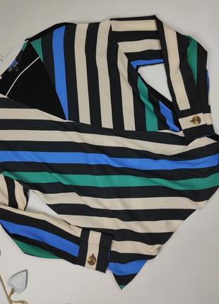 Блуза красивая новая на запах в полоску uk 10/38/s