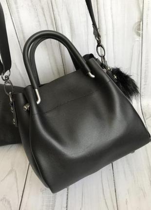 Маленькая сумочка с косметичкой внутри8 фото